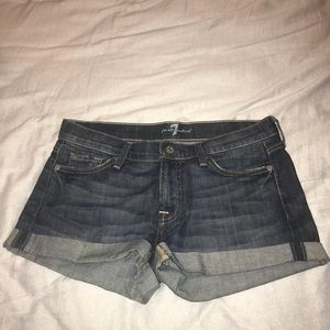 7 for all mankind denim shorts size 28